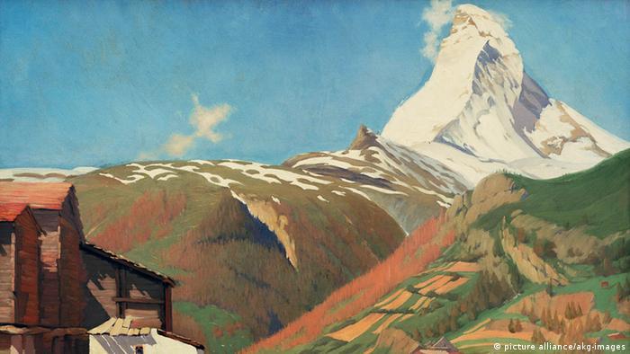Schweiz Matterhorn Alpinismus Ölgemälde