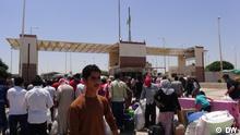 Syrien Irak Grenze bei Tall Abyad Flüchtlinge