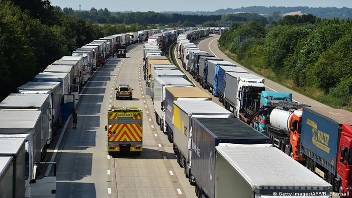 England Blockade Eurotunnel (Getty Images/AFP/B. Stansall)