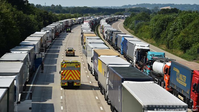 England Blockade Eurotunnel (Getty Images/AFP/B. Stansall)