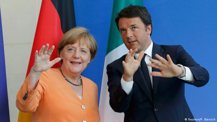 Berlin Treffen Merkel und Renzi