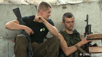 Ostukraine Donezk pro-russische Rebellen Separatisten