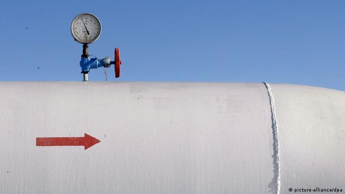 Труба, по которой осуществляется транзит российского газа через Украину в Европу