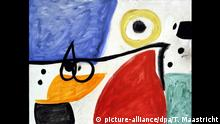 Das Bild Personnages dans un paysage von Joan Miró ist beim Aussteller Dickinson in Maastricht zu sehen (undatiertes handout). Rund 220 Kunst- und Antiquitätenhändler aus 15 Ländern nehmen an der diesjährigen Kunstmesse in der niederländischen Stadt Maastricht teil. «The European Fine Art Fair/TEFAF», die zu den weltweit bedeutendsten Kunsthandelsplätzen zählt, ist vom 7. bis zum 16. März geöffnet. Dies teilten die Veranstalter am Mittwoch (27.02.2008) mit. - ACHTUNG: Bildverwendung nur im Zusammenhang mit der erwähnten Kunstmesse - dpa/lnw +++(c) dpa - Report+++