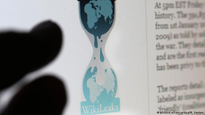 finger points at Wikileaks page