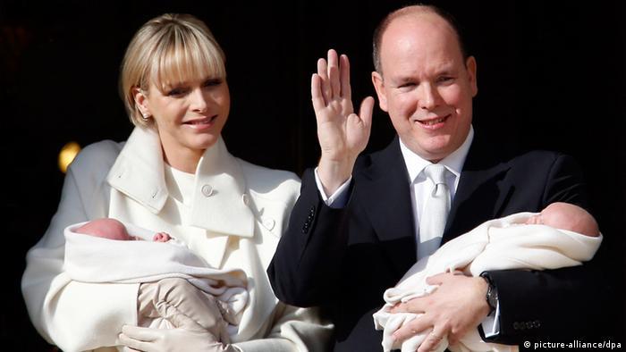 Monaco - Königspaar mit Zwillingen