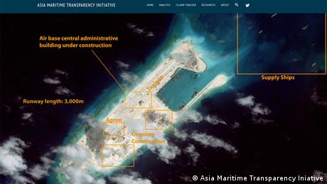 Satelitenaufnahmen Spratly-Inseln Asia Maritime Transparency Iniative