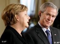 Президент США Джордж Буш и Ангела Меркель