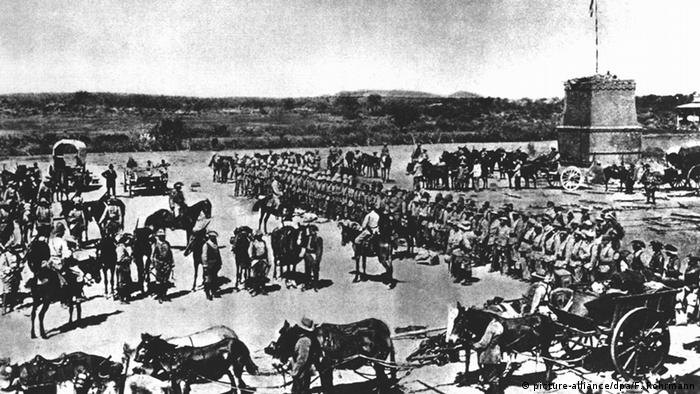 German imperial troops violently subdued the Herero rebellion.