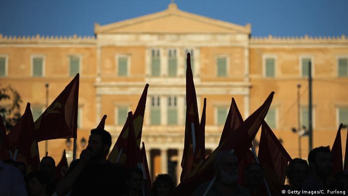 Griechenland Kundgebung Kommunistische Partei