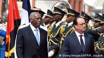 Angola Besuch Francois Hollande bei Jose Eduardo Dos Santos