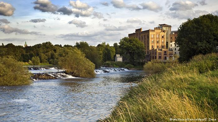 Fluss Ruhr Hattingen Birschel-Muehle Deutschland