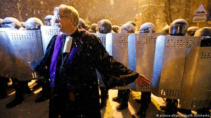 Ральф Гаска у Києві в ніч на 9 грудня 2013 року