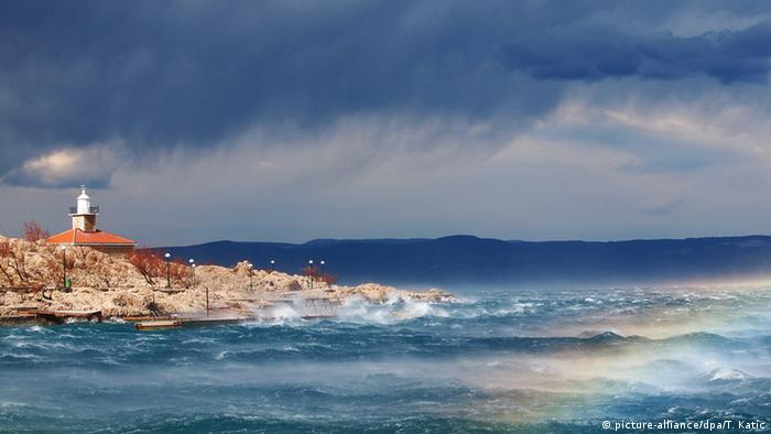 Stormy weather at the seaside
