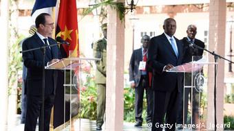 Angola - Präsident Hollande in Luanda