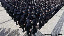 Neue Polizisten in Kiew vereidigt