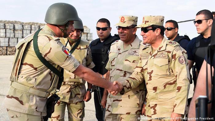 President al-Sisi in Sinai