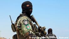 29.6.2015 *** Image #: 37928812 A masked Tunisian soldier stand guard on the beach at the Riu Imperial Marhaba Hotel in Port el Kantaoui, in Sousse south of the capital Tunis, on June 29, 2015.The Islamic State (ISIS) group claimed responsibility for the massacre on June 27 in a deadly beach resort attack that killed nearly 40 people, most of them British tourists. Photo by Khaled Nasraoui/UPI /LANDOV