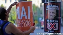Griechenland Referendum Nai und Oxi