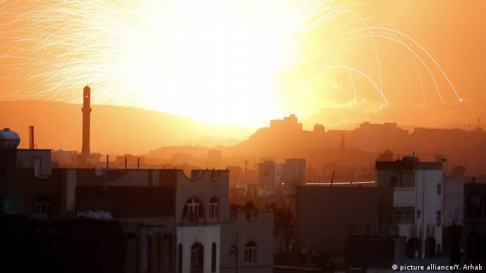 Jemen Luftangriffe auf Sanaa