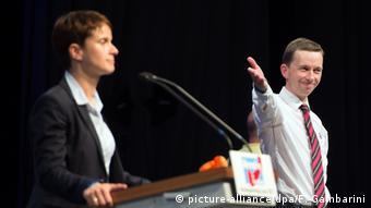 Фрауке Петри и Бернд Лукке на съезде АдГ в июле 2015 года
