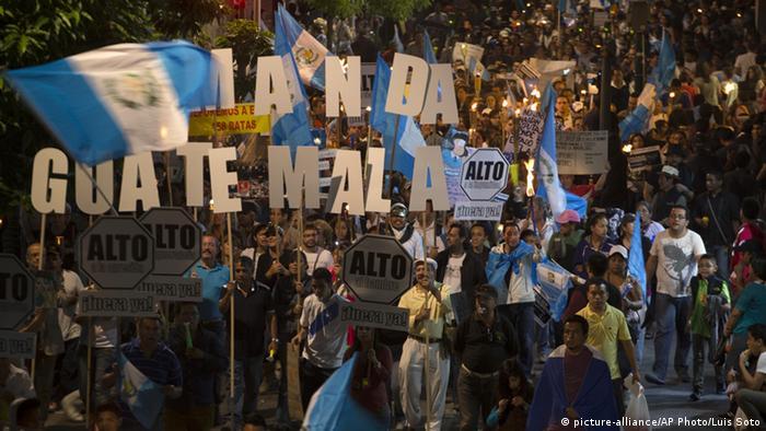 Manifestación contra la corrupción en Guatemala