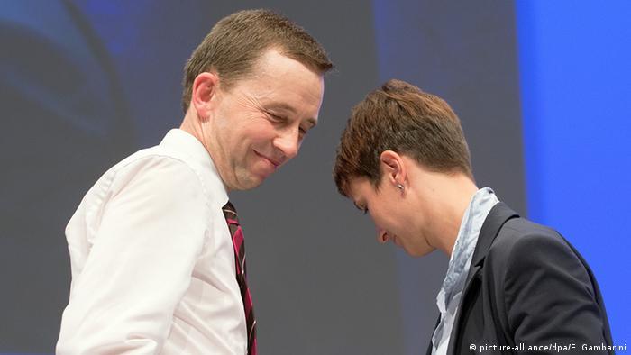 Bernd Lucke (left) and Frauke Petry