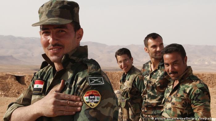 Soldaten Syrische Armee (Foto: Dmitriy Vinogradov/RIA Novosti)