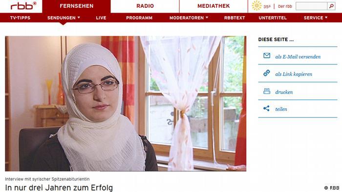 Screenshot RBB Noor Kassab EINSCHRÄNKUNG