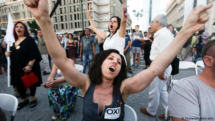 Griechenland Referendum Freude in Athen