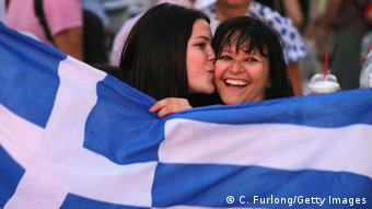 Celebrating Greeks (Photo: Christopher Furlong/Getty Images)