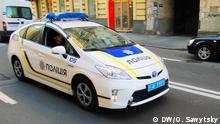 2015 Neue Polizei in Kiew, Ukraine: Streifenwagen der neuen ukrainischen Polizei; Copyright: DW/O. Sawytsky
