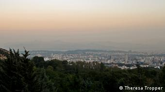 A view of Teheran from a park in the north of the city