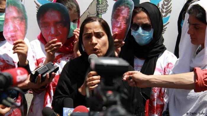 As the US and the Taliban near a deal on ending America's longest war, many women and girls in Afghanistan are worried about losing what few rights and freedoms they've gained over nearly two decades. In this photo, Afghan women right activists demand justice for Farkhunda Malikzada, who was brutally beaten and killed by a mob in 2015 for allegedly setting a copy of the Koran on fire.