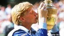 Boris Becker - Pokal Wimbledon (Getty Images)