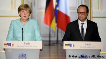 Frankreich - Krisentreffen Griechenland Angela Merkel und Francois Hollande