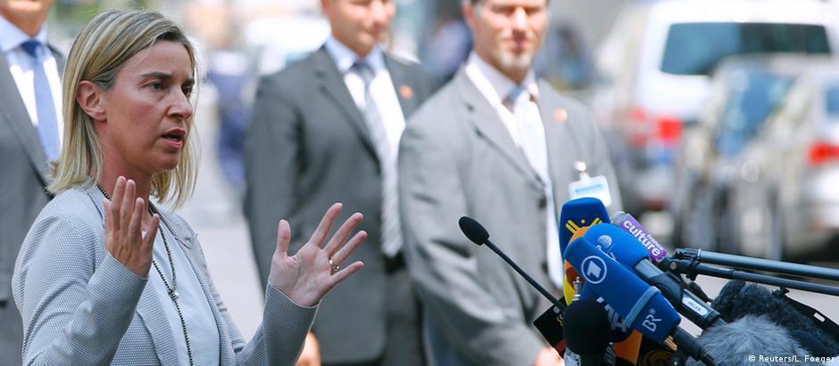 Federica Mogherini, chefe da diplomacia da UE, em Viena