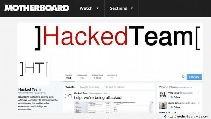 Скриншот взломанной страницы в Twitter компании, производящей программы для шпионажа