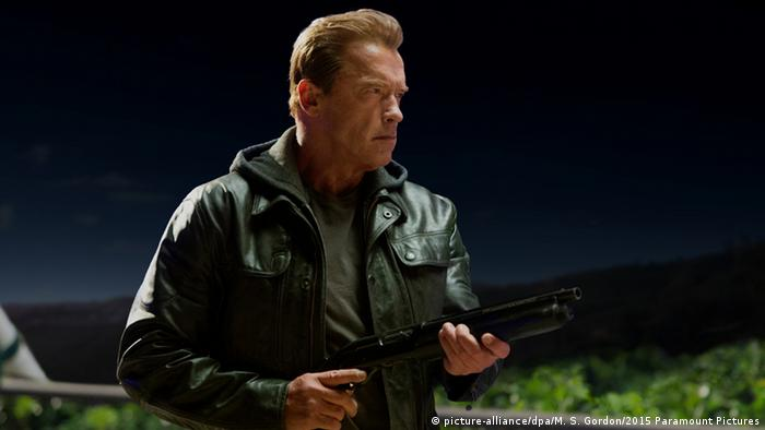 Arnold Schwarzenegger in Terminator: Genisys, 2015 (picture-alliance/dpa/M. S. Gordon/2015 Paramount Pictures)