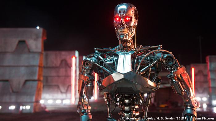 A still from the film terminator shows a robot