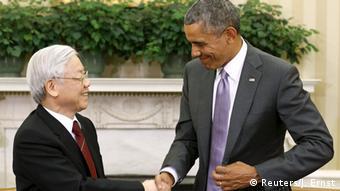USA, Nguyen Phu Trong und Barack Obama