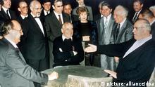 Kohl und Gorbatschow im Kaukasus