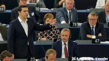 Straßburg Frankreich EU Zone Griechenland Krise Alexis Tsipras