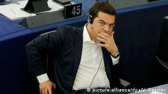 Straßburg Frankreich EU Parlament Griechenland Krise Alexis Tsipras