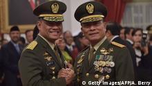 Vereidigung des Oberbefehlshabers der indonesischen Streitkräfte Gatot Nurmantyo