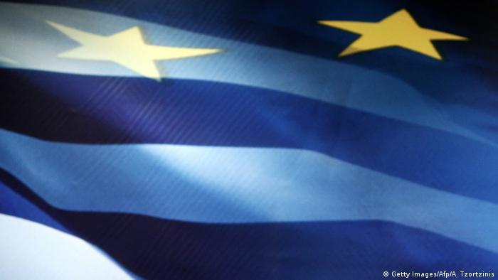 Symbolbild Flagge Griechenland Europa EU