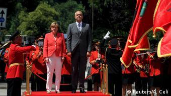 Angela Merkel Kanzerlin Besuch Tirana Albanien Premierminister Edi Rama