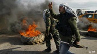 Israel Gaza-Streifen Straßenblockade