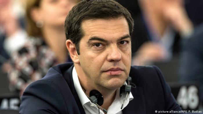 Straßburg Frankreich EU Parlament Griechenland Alexis Tsipras