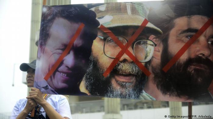 Un cartel fotografiado en una marcha de fines del año pasado, en demanda de paz sin impunidad.